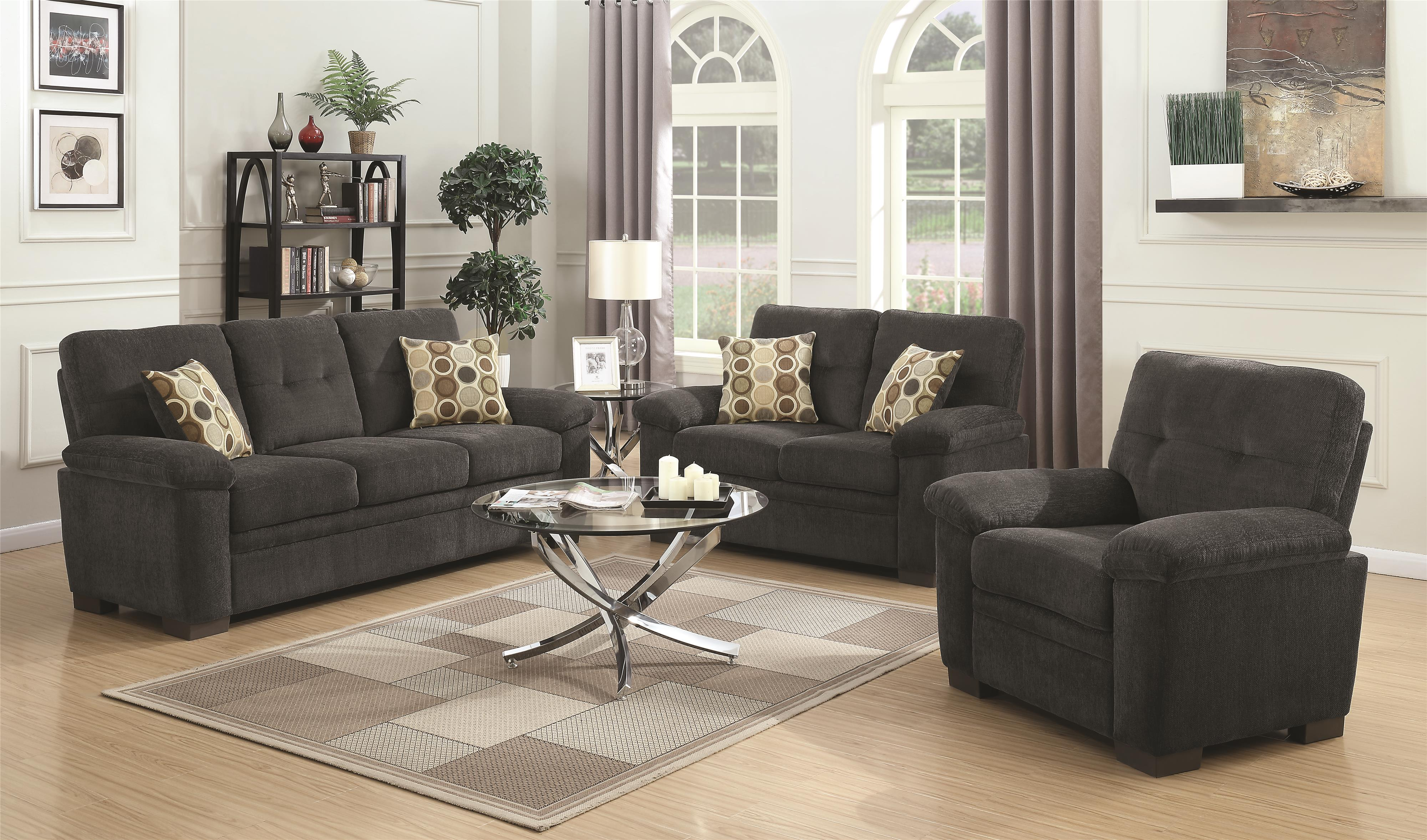 Fairbairn Stationary Living Room Group by Coaster at Northeast Factory Direct