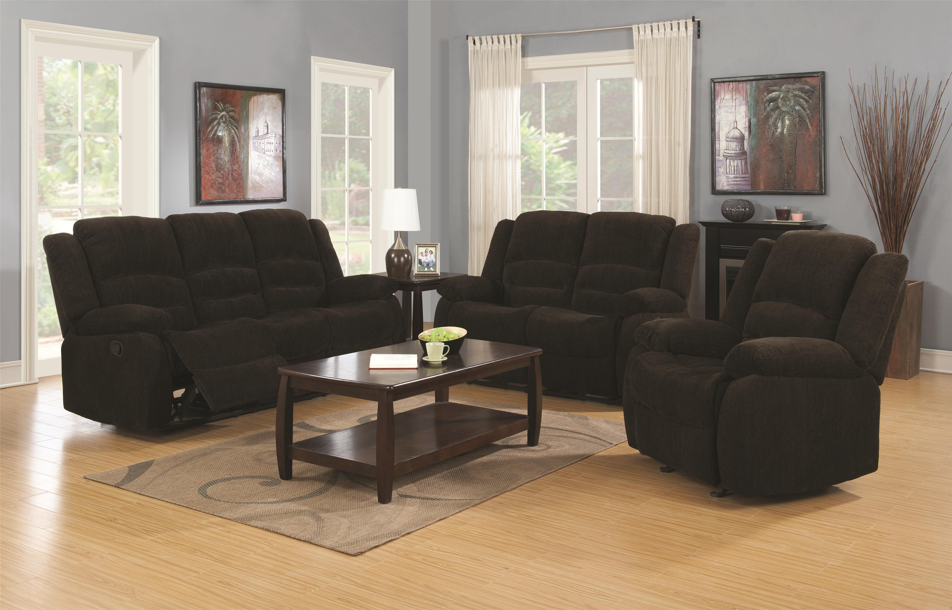 Gordon Reclining Living Room Group by Coaster at Northeast Factory Direct