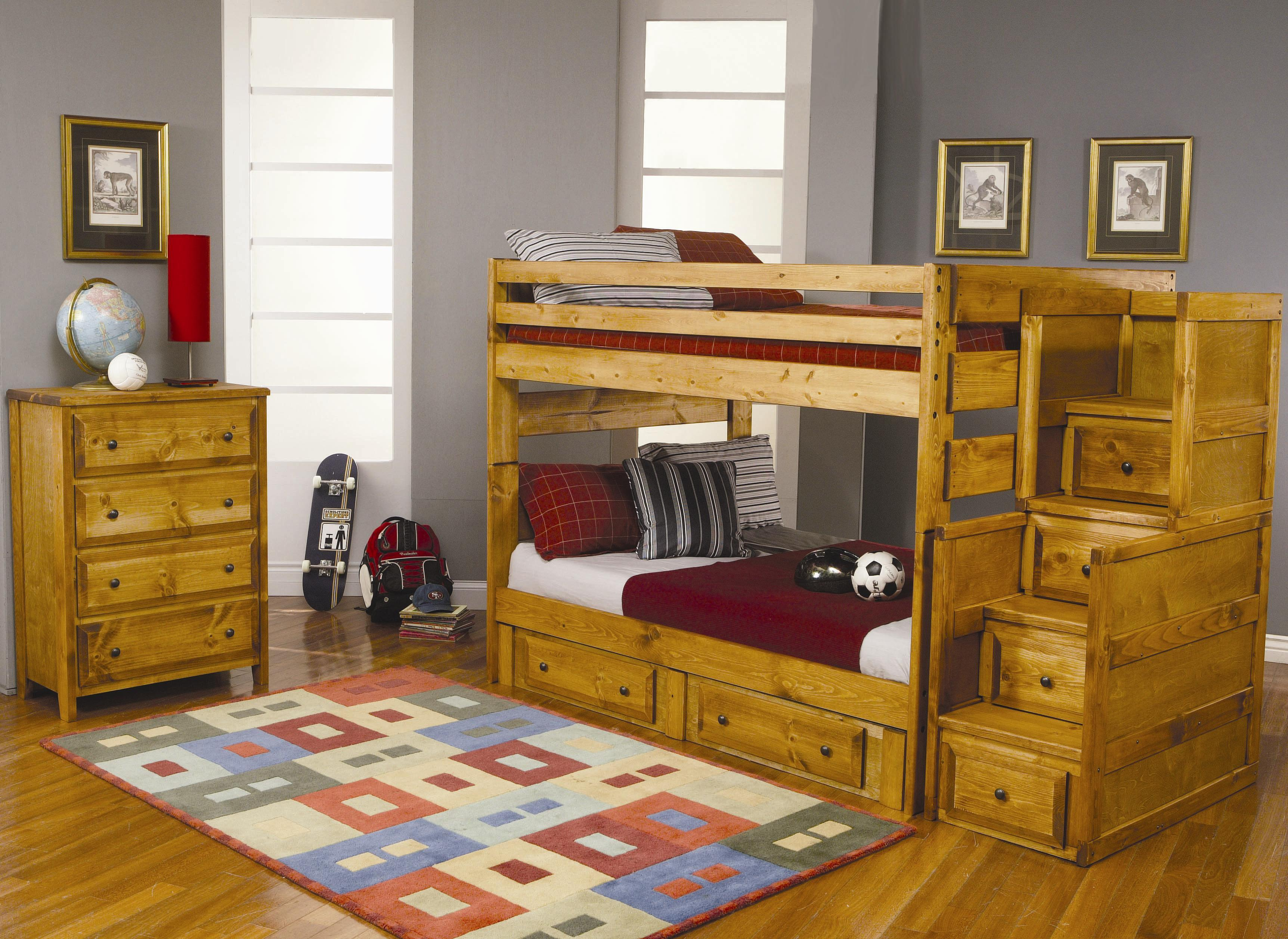 Wrangle Hill Full Over Full Bunk Bedroom Group by Coaster at Northeast Factory Direct