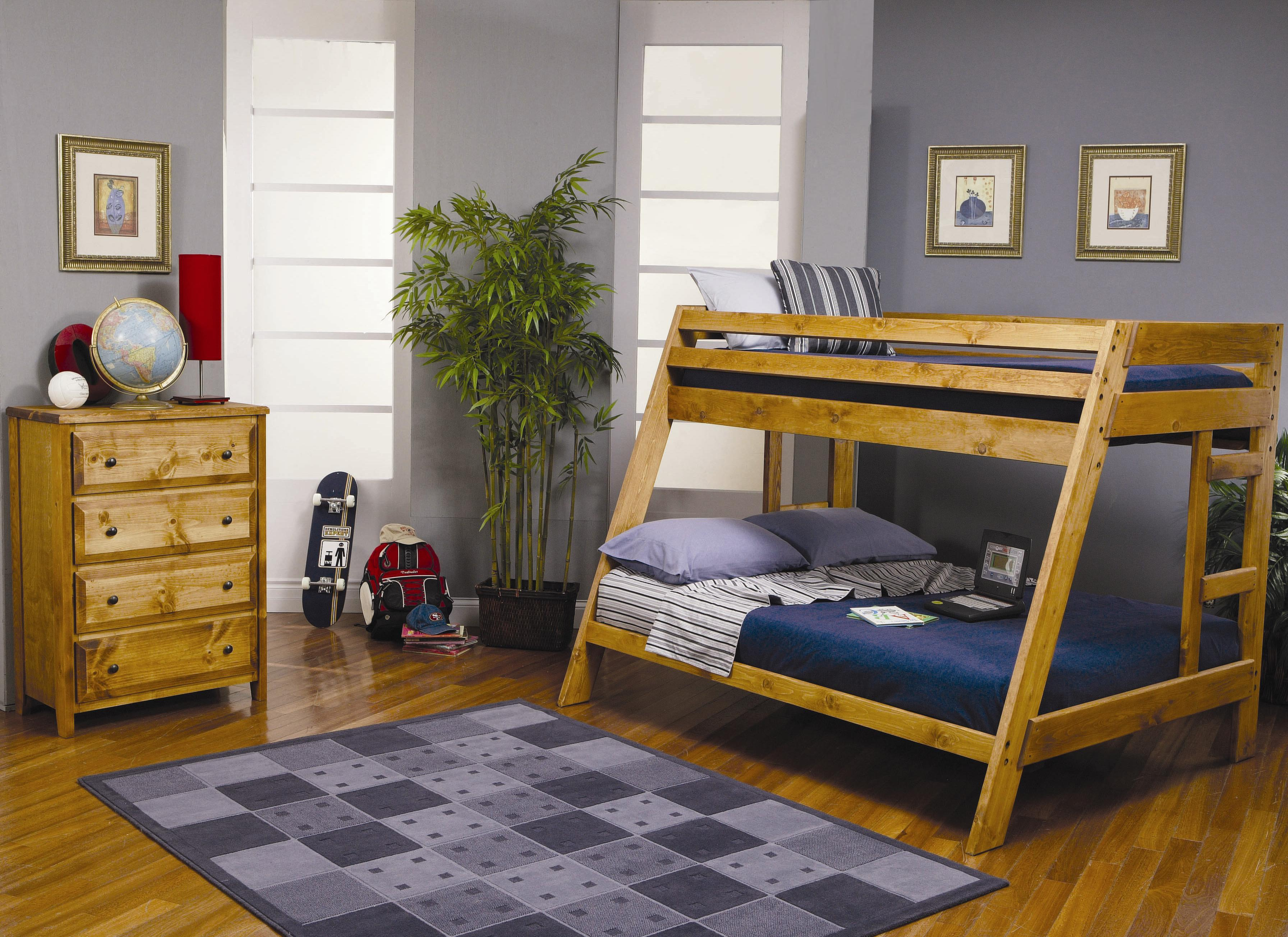Wrangle Hill Twin Over Full Bunk Bedroom Group by Coaster at Beds N Stuff