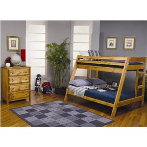 Coaster Wrangle Hill Twin Over Full Bunk Bedroom Group