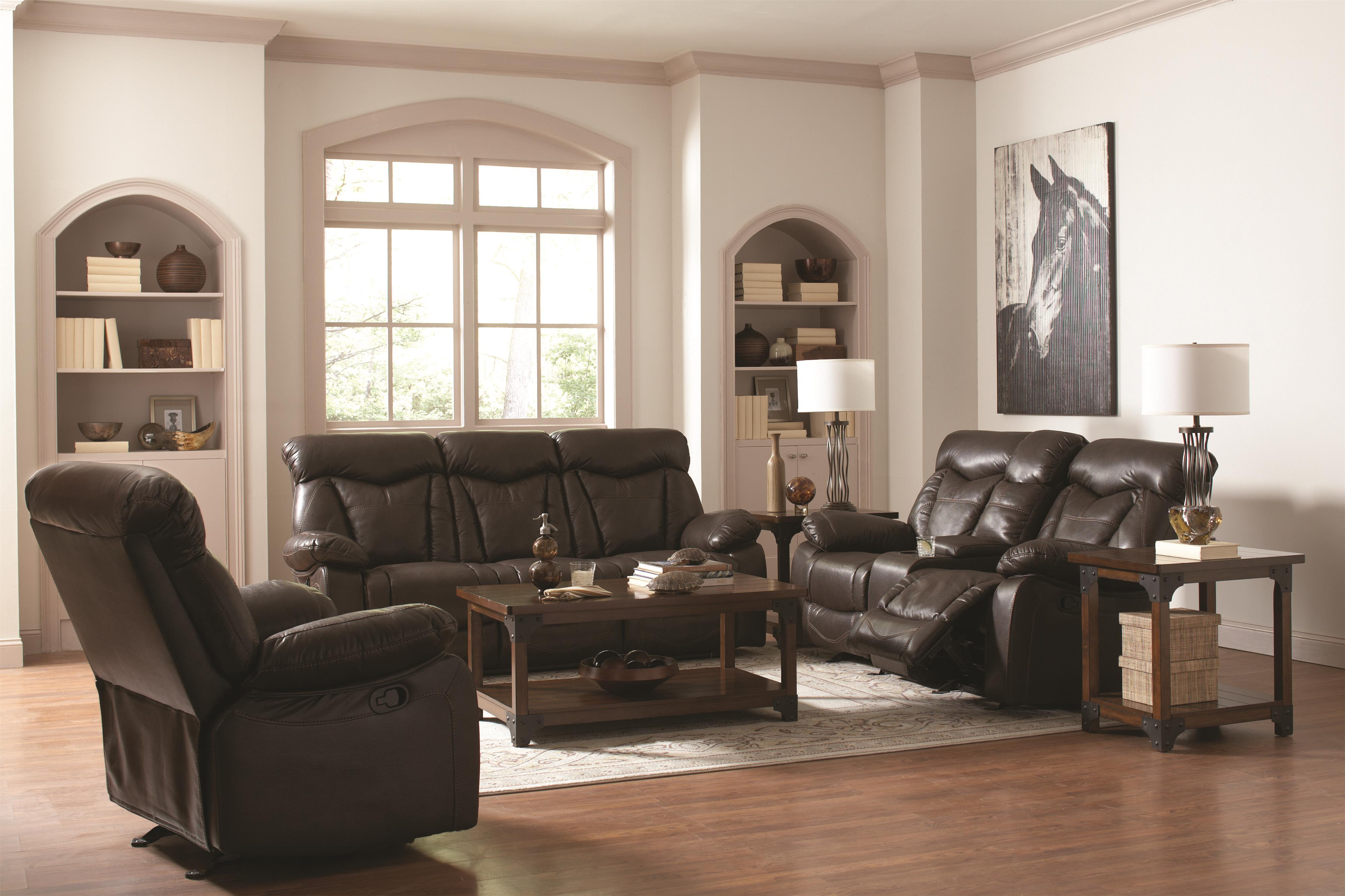 Zimmerman Reclining Living Room Group by Coaster at Suburban Furniture
