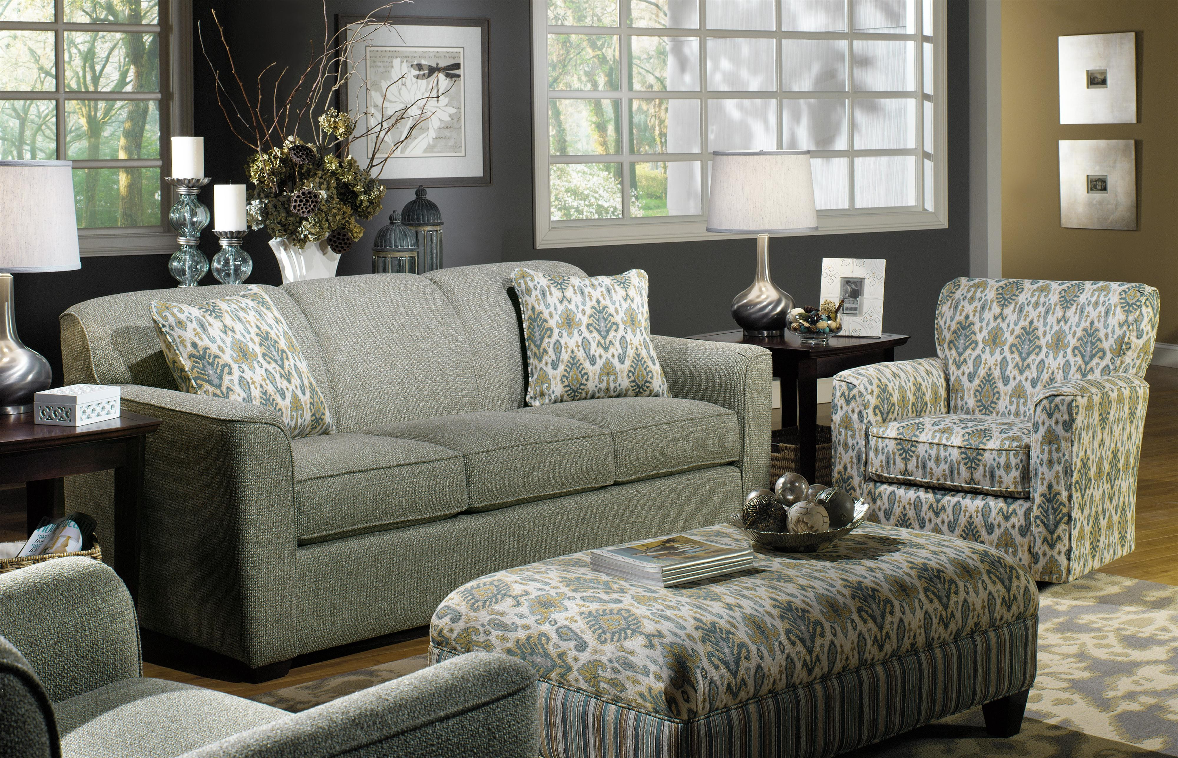 7255 Stationary Living Room Group by Craftmaster at Powell's Furniture and Mattress