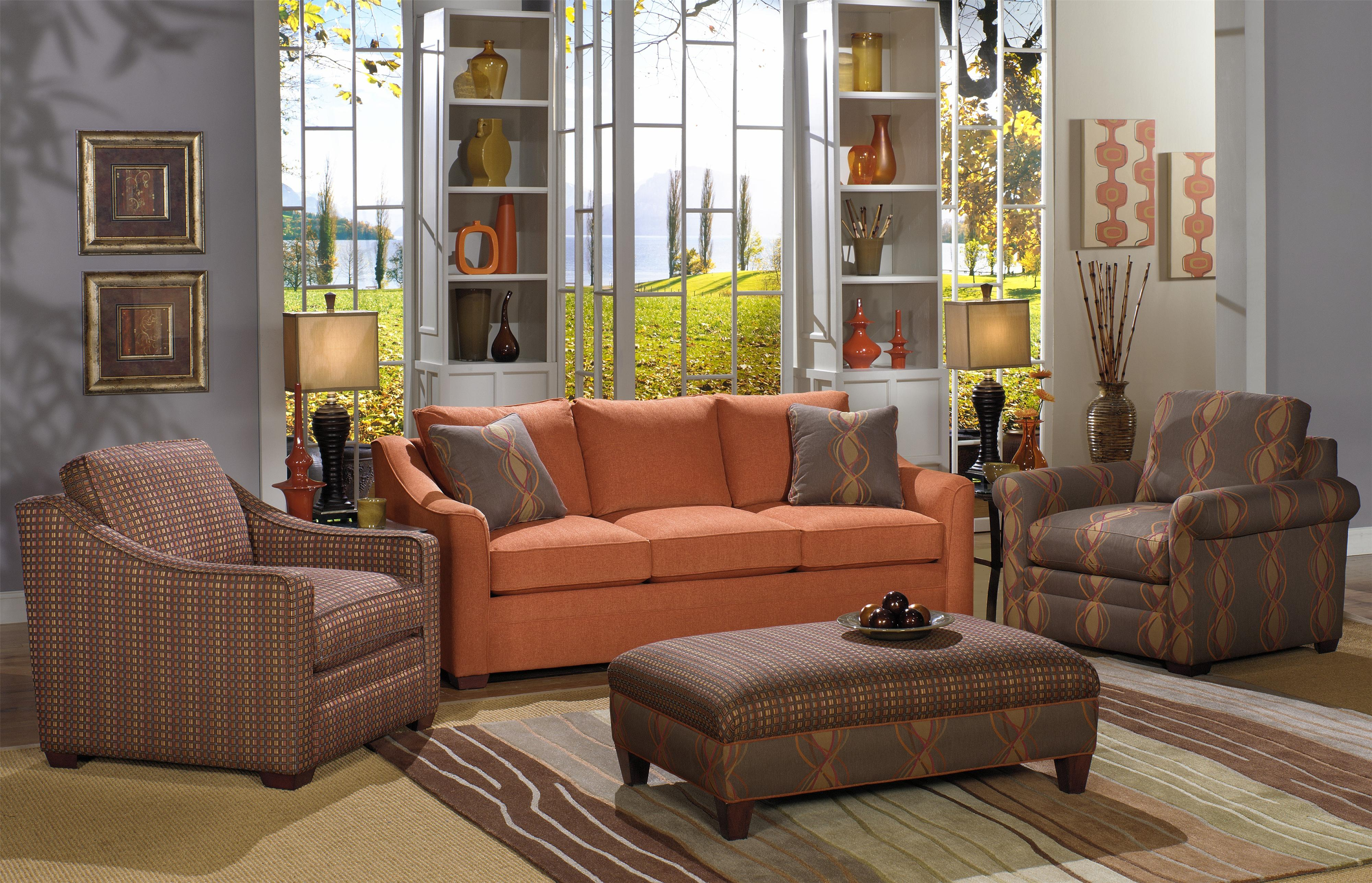 F9 Custom Collection Stationary Living Room Group by Craftmaster at Goods Furniture