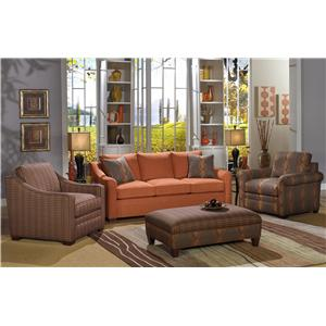Craftmaster F9 Custom Collection Stationary Living Room Group
