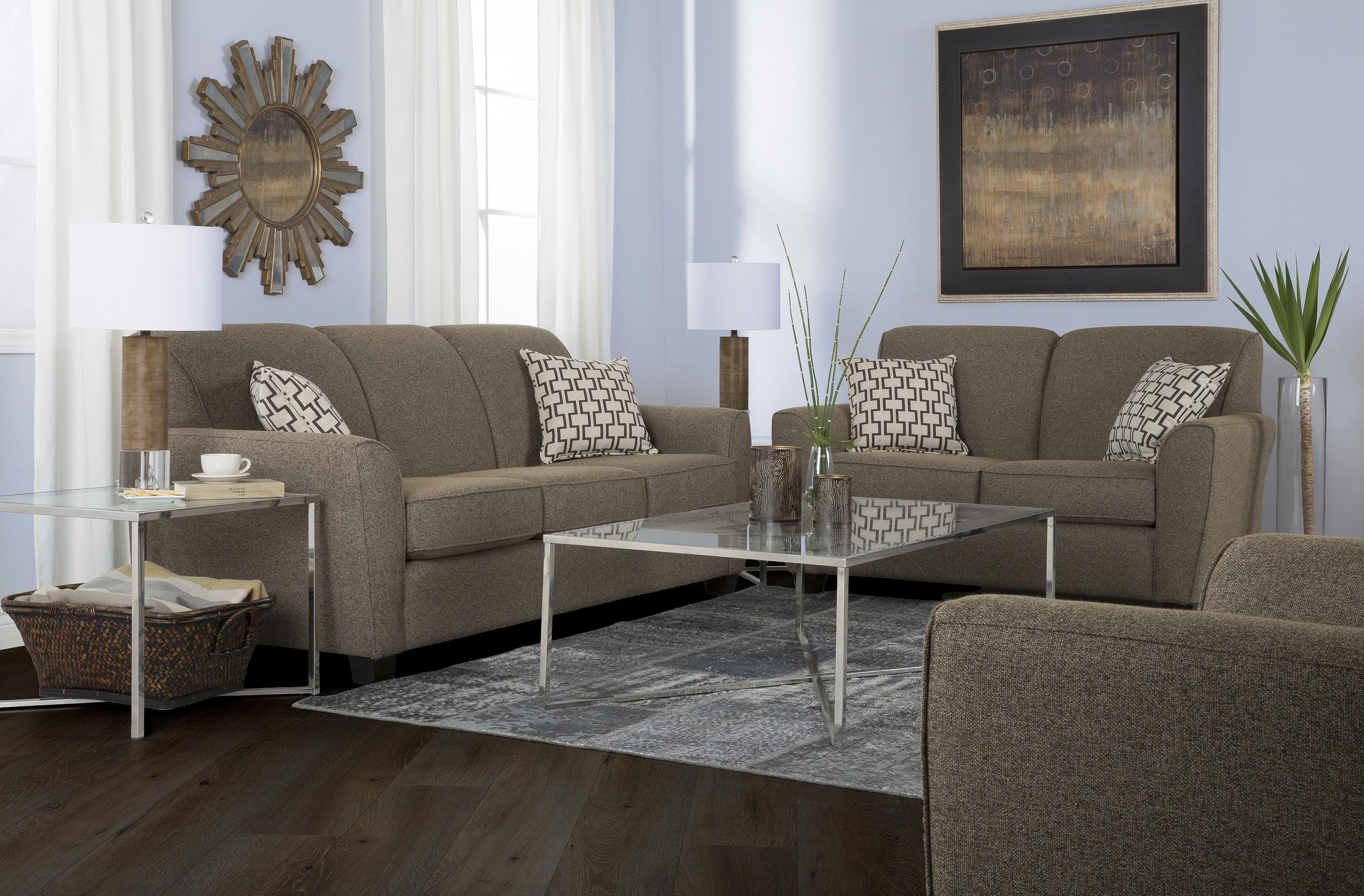 2404 Stationary Living Room Group by Decor-Rest at Johnny Janosik
