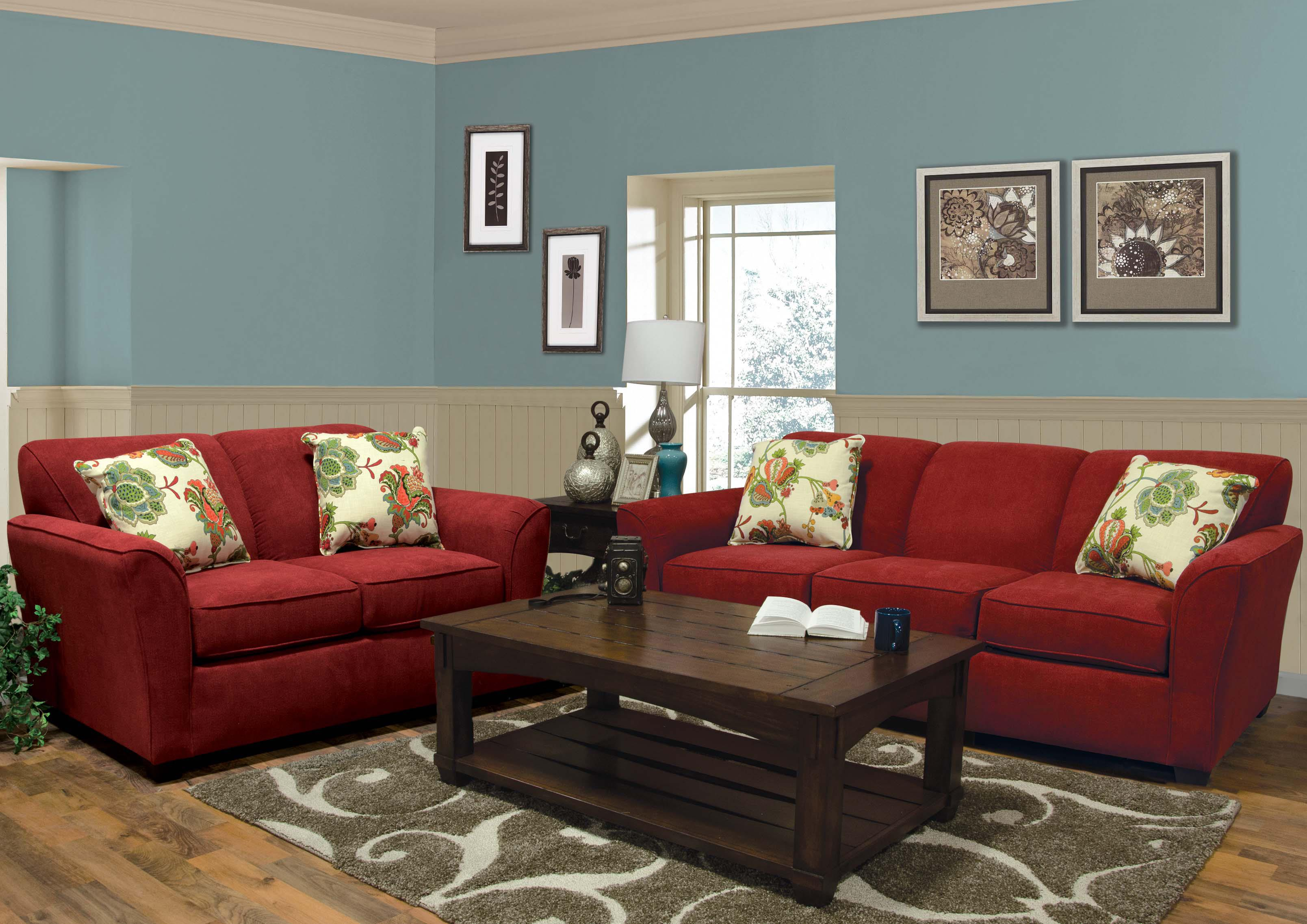 Smyrna Stationary Living Room Group by England at Esprit Decor Home Furnishings