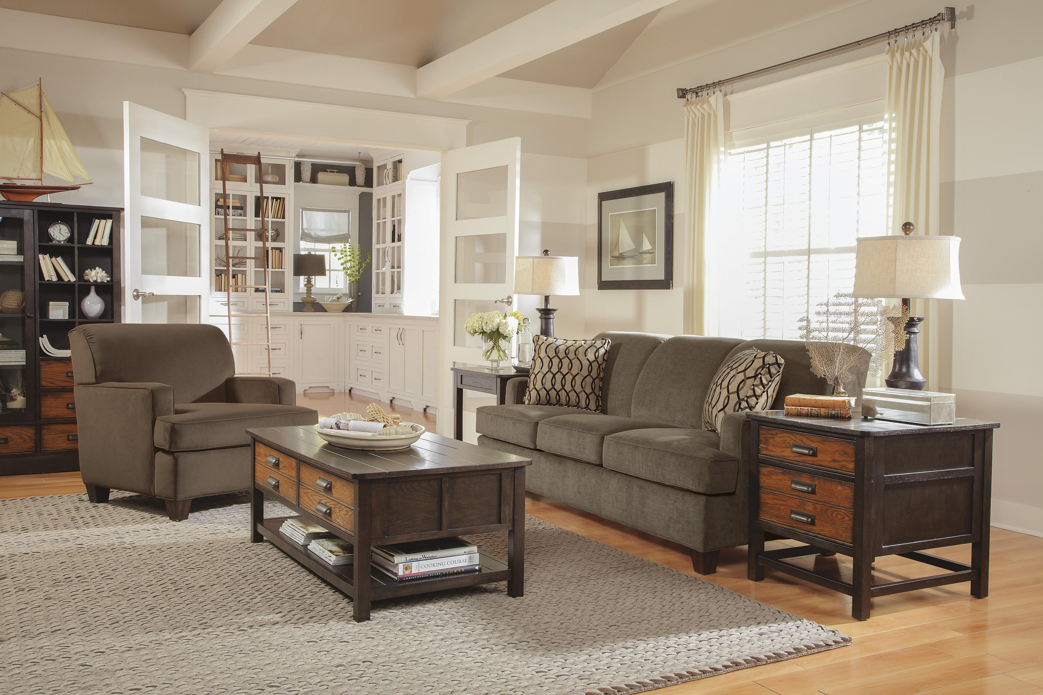 Dempsey Stationary Living Room Group by Flexsteel at VanDrie Home Furnishings
