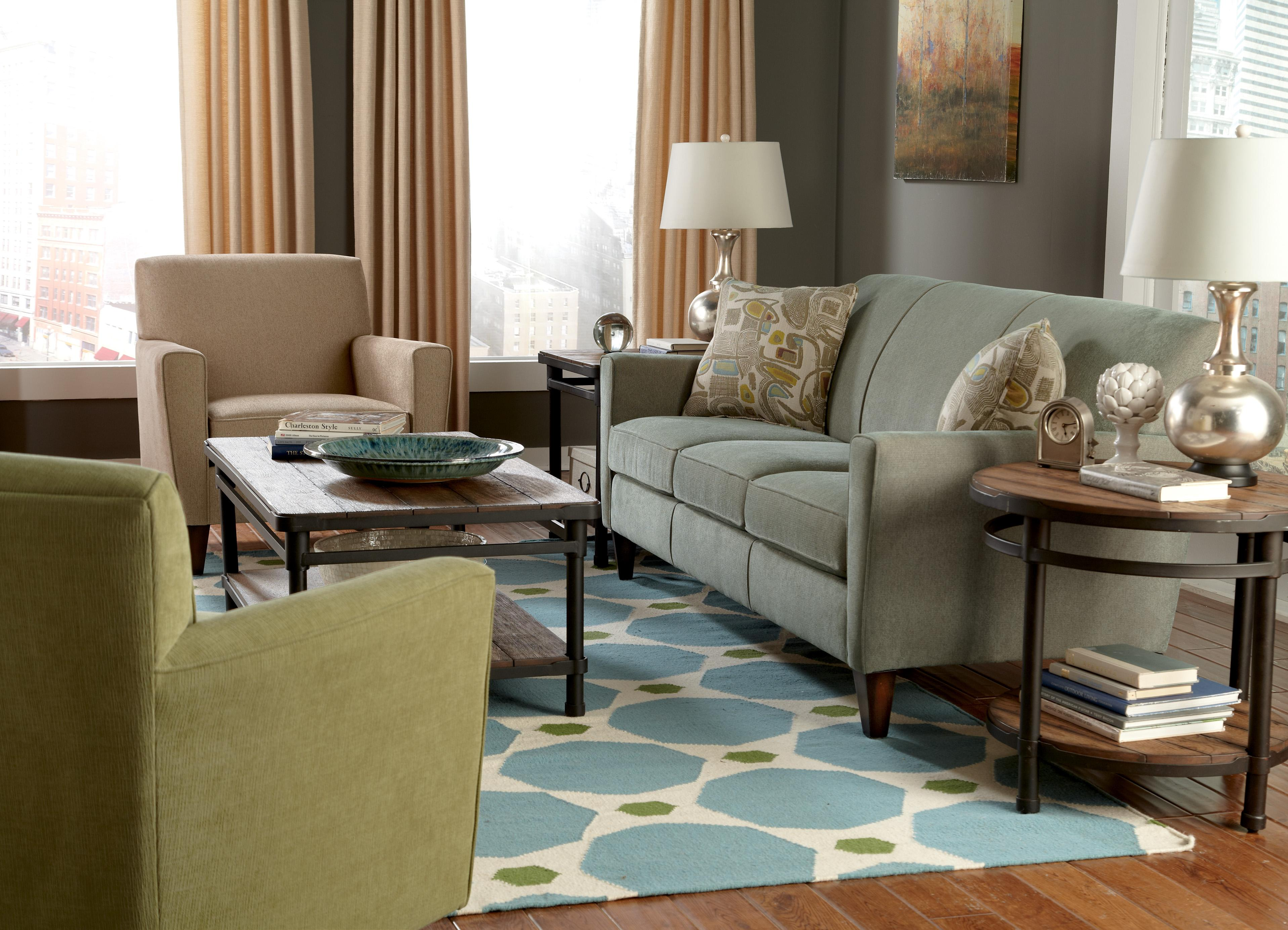 Digby Stationary Living Room Group by Flexsteel at Mueller Furniture