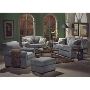 Stationary Living Room Group with Sleeper