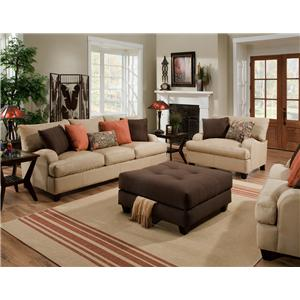Franklin 809 Stationary Living Room Group