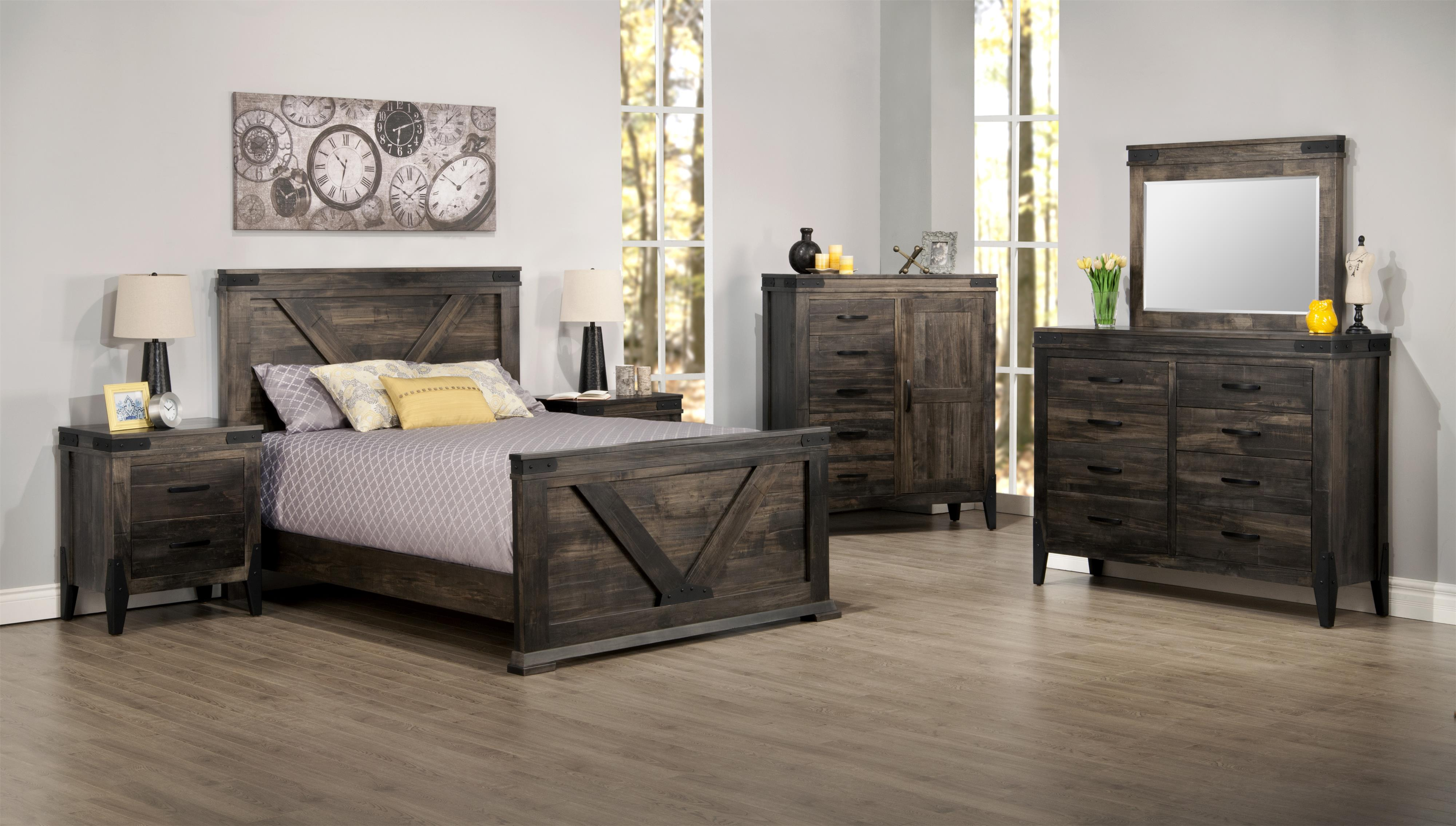 Chattanooga Queen Bedroom Group by Handstone at Jordan's Home Furnishings