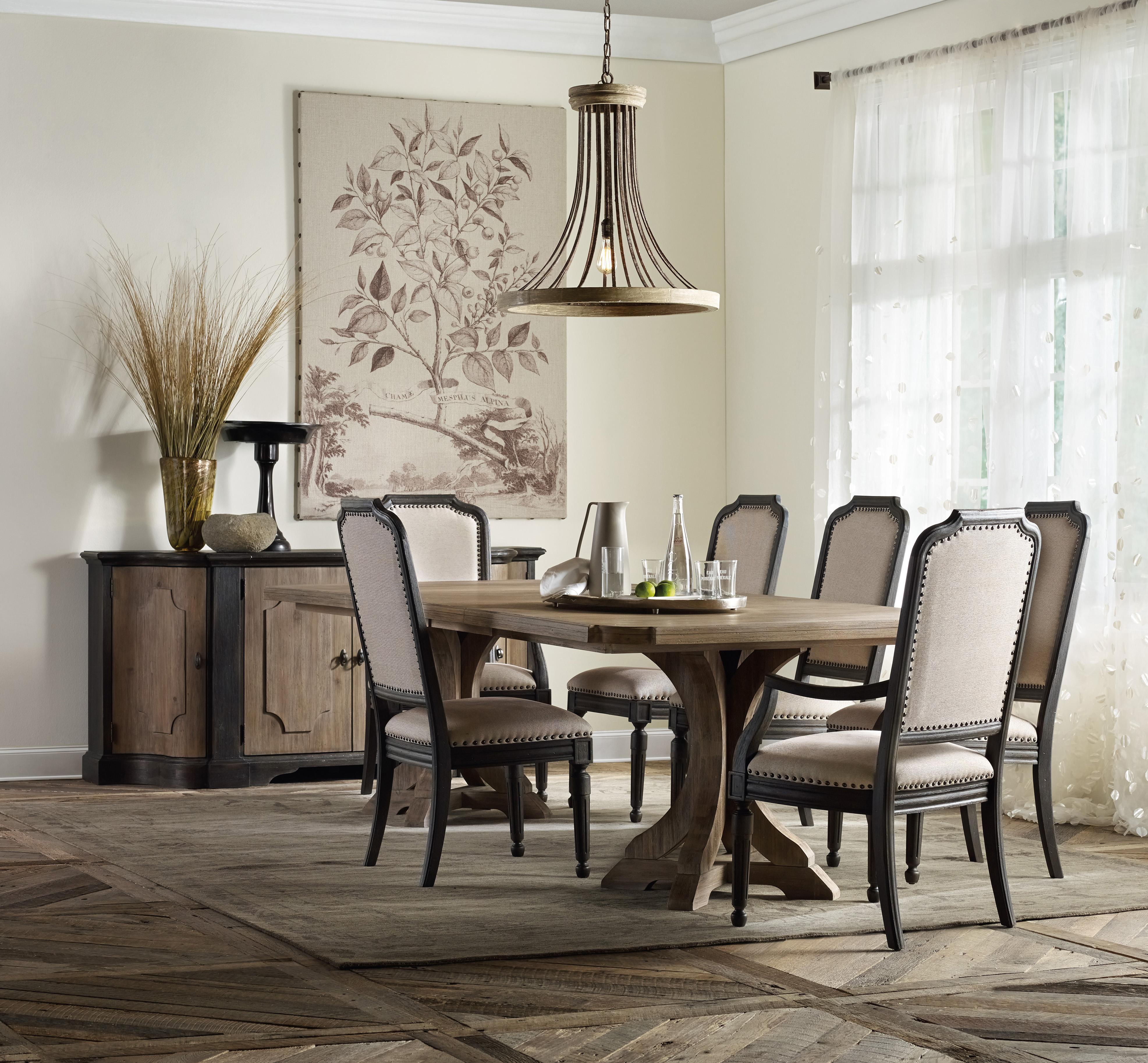 Corsica Formal Dining Room Group with Credenza by Hooker Furniture at Miller Waldrop Furniture and Decor