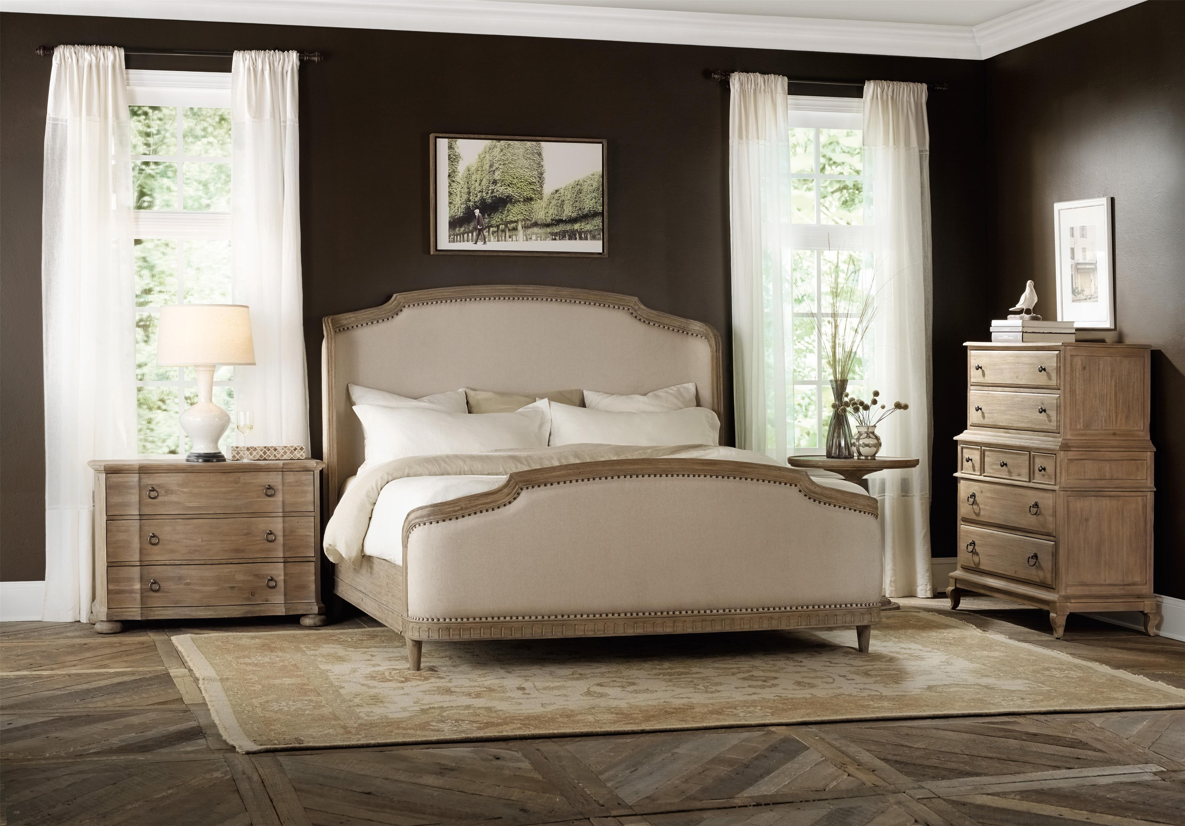 Corsica Queen Shelter Bedroom Group by Hooker Furniture at Baer's Furniture