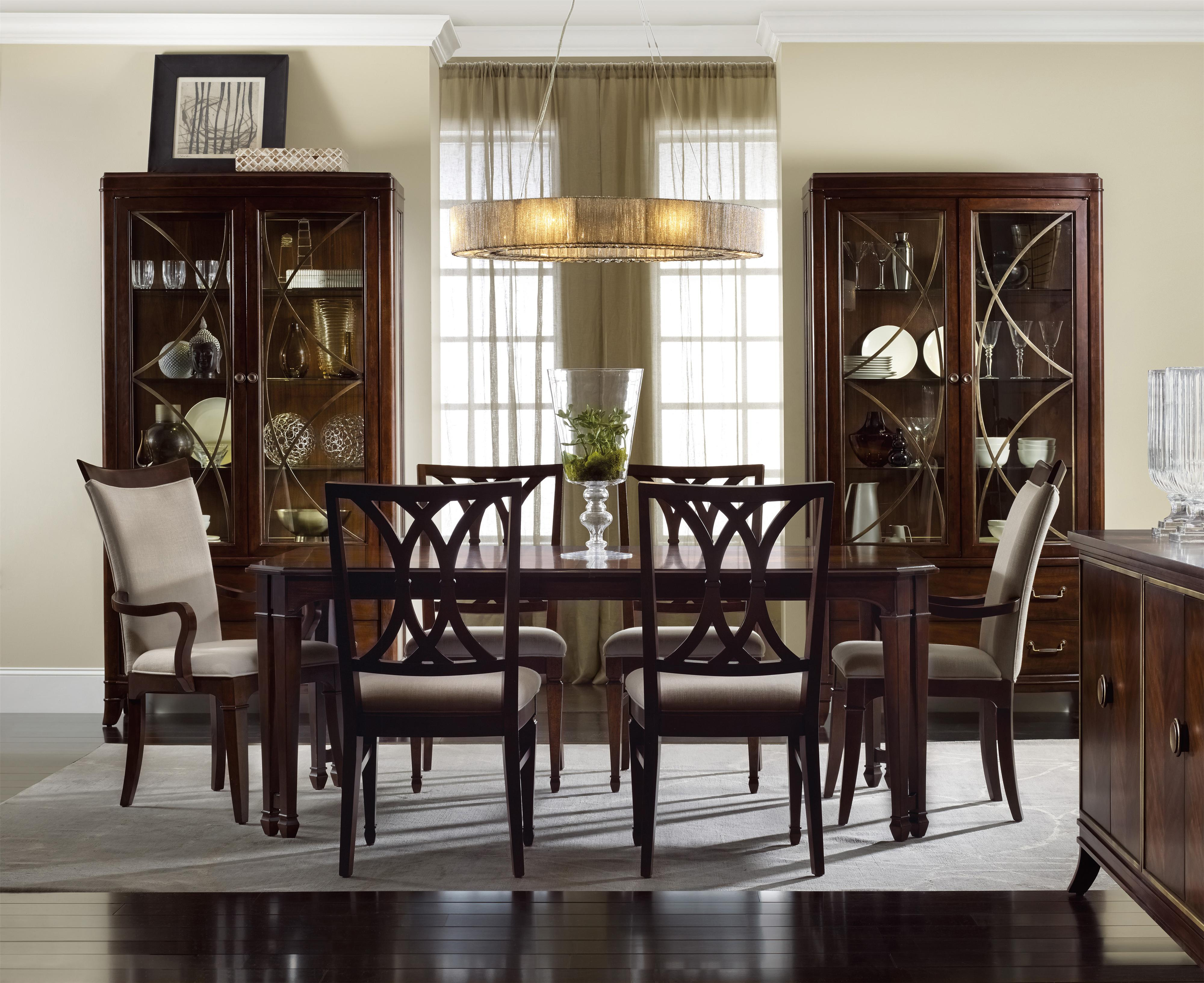 Palisade Formal Dining Room Group by Hooker Furniture at Miller Waldrop Furniture and Decor