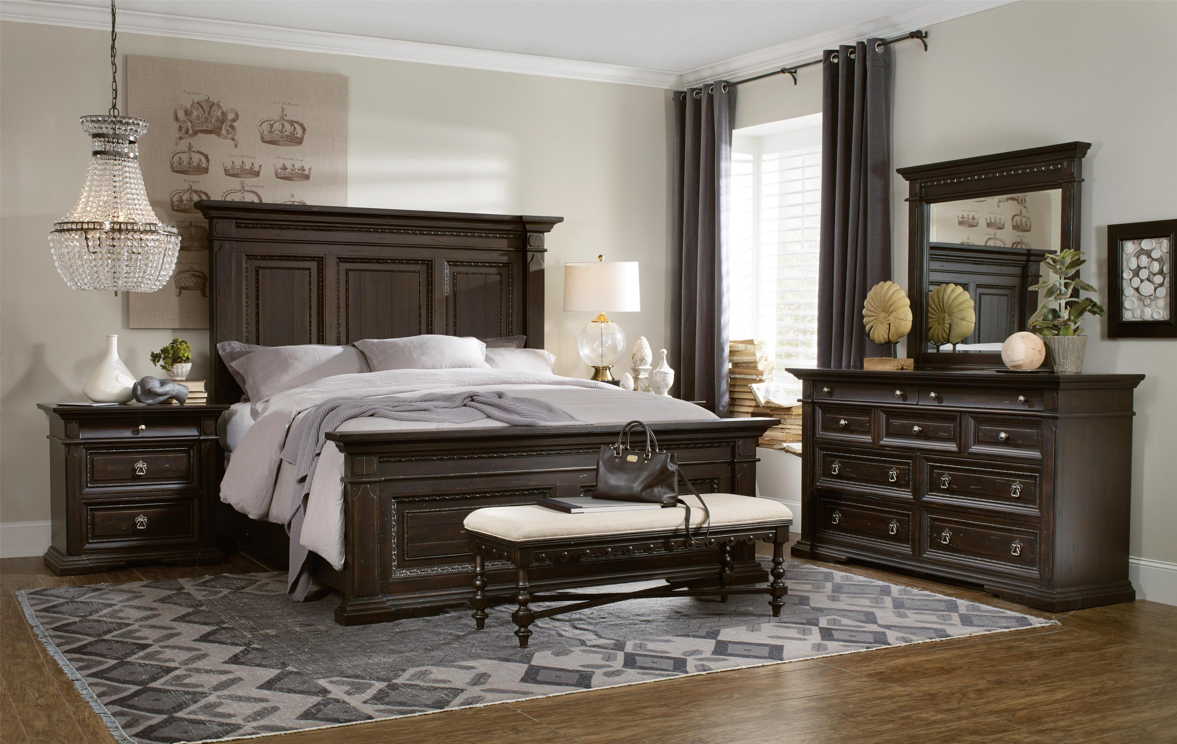 Treviso California King Bedroom Group by Hooker Furniture at Miller Waldrop Furniture and Decor