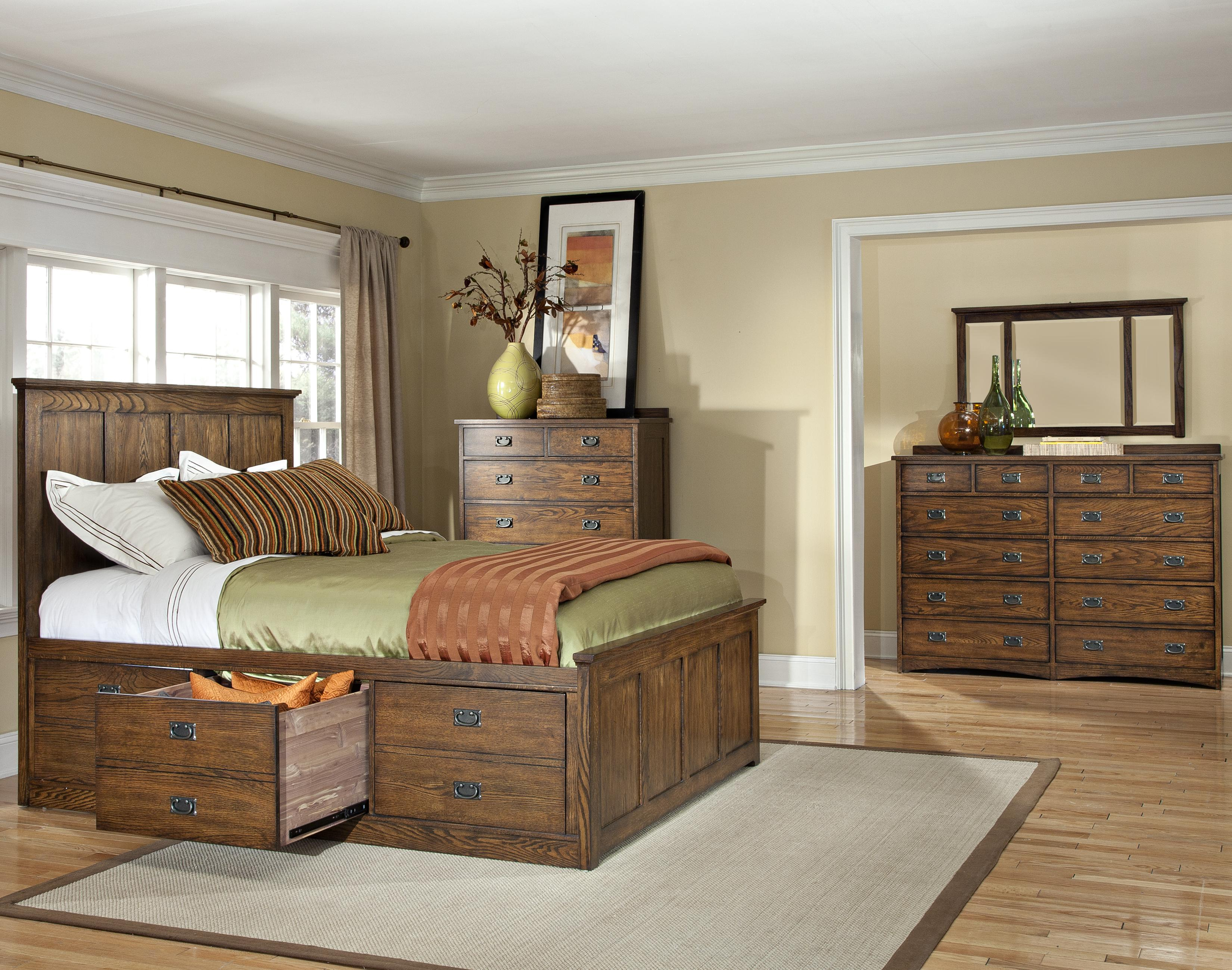Oak Park Queen Bedroom Group by VFM Signature at Virginia Furniture Market