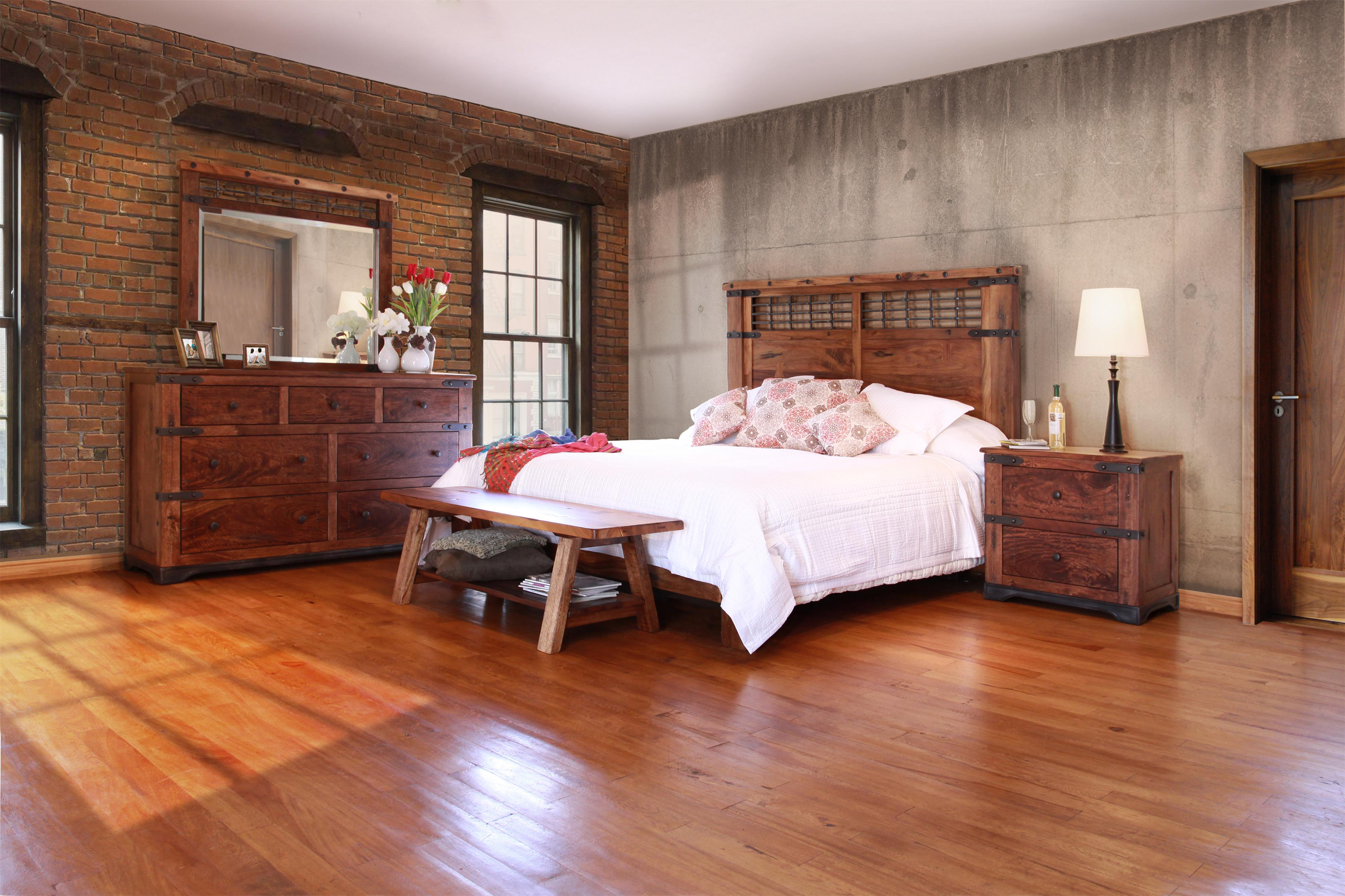 Parota King Bedroom Group by International Furniture Direct at Zak's Home