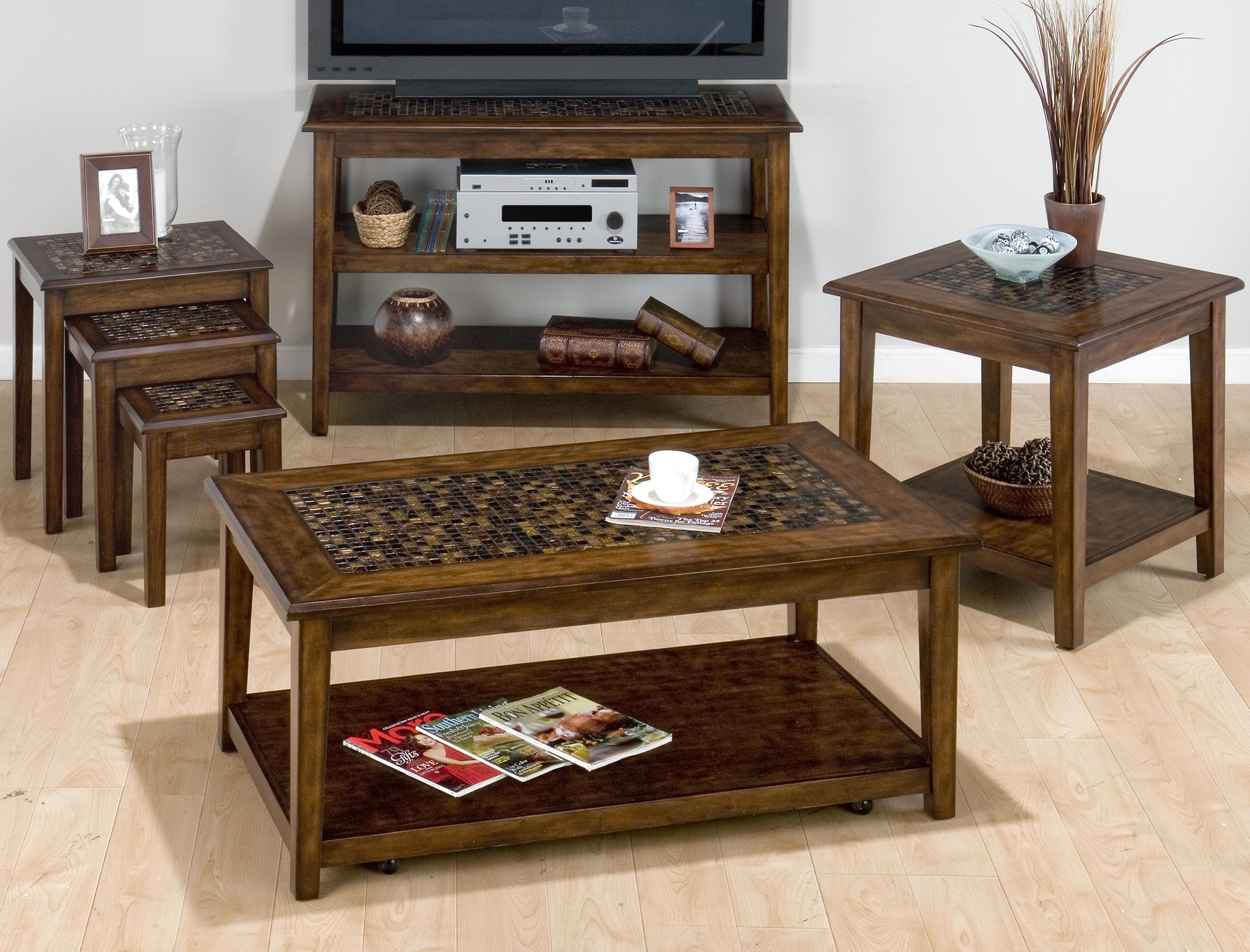 Baroque Brown Occasional Table Group by Jofran at Prime Brothers Furniture