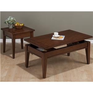 Jofran Dunbar Oak Occasional Table Group