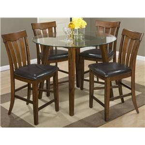 "48"" Round Counter Height Table and Stool Set"