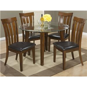 "Jofran Plantation 48"" Round Dining Height Table and Chair Set"