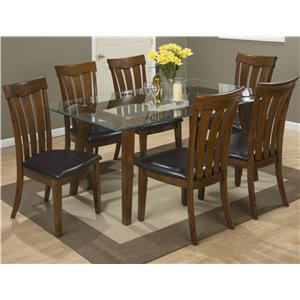 "Jofran Plantation 72"" Rectangle Table and Chair Set"