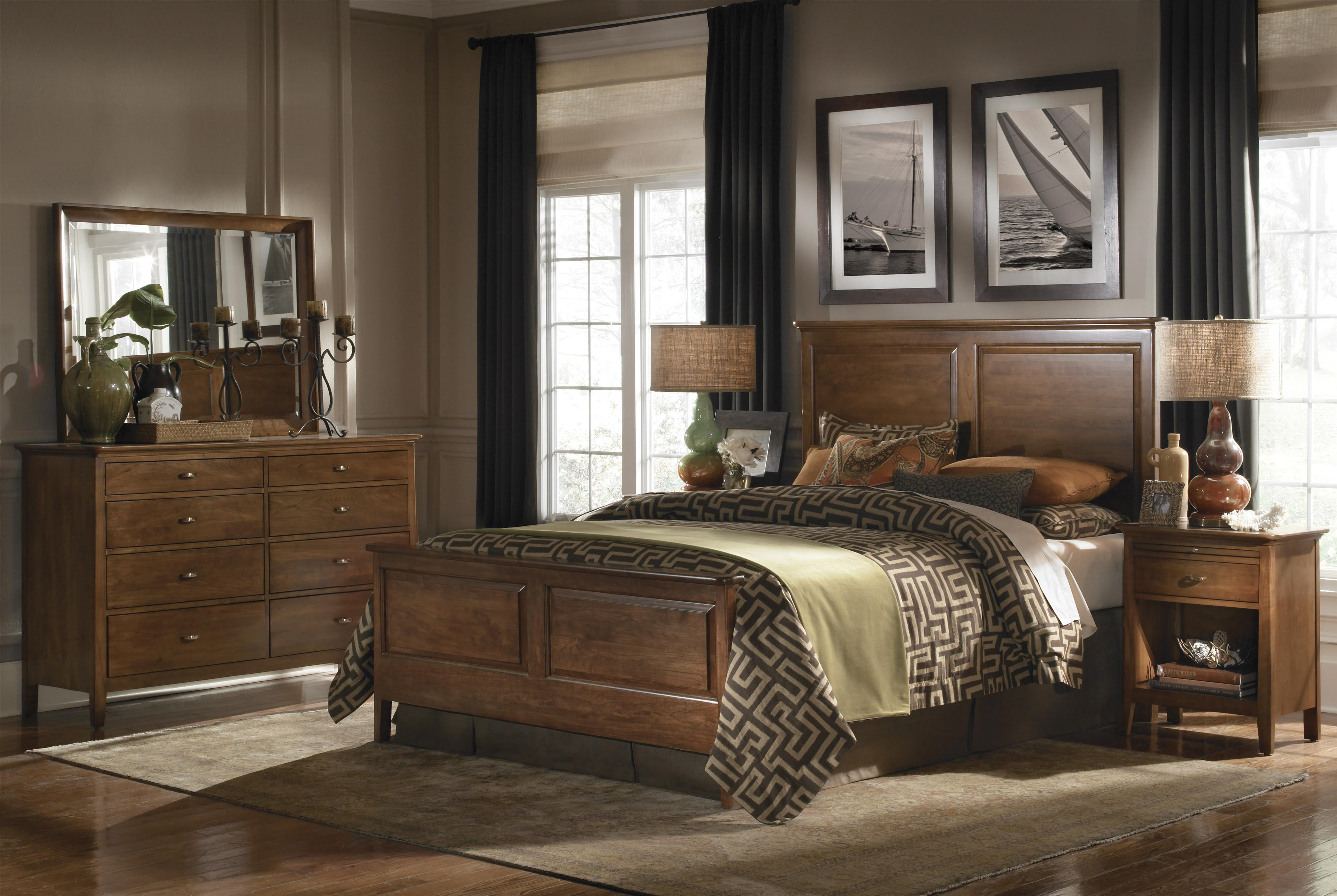 Cherry Park King Bedroom Group by Kincaid Furniture at Johnny Janosik