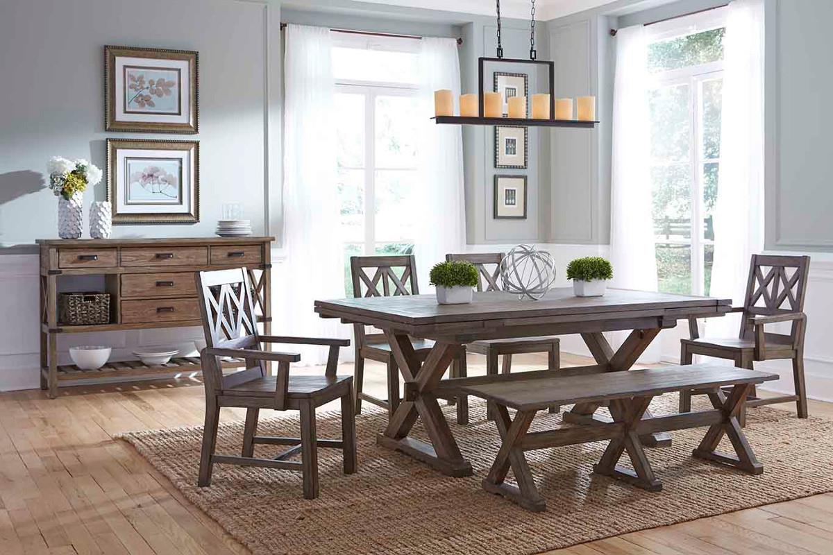 Foundry Formal Dining Room Group by Kincaid Furniture at Northeast Factory Direct