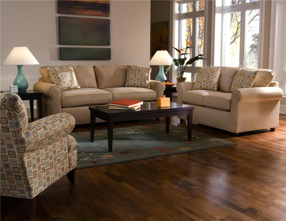 Brighton Stationary Living Room Group by Klaussner at H.L. Stephens