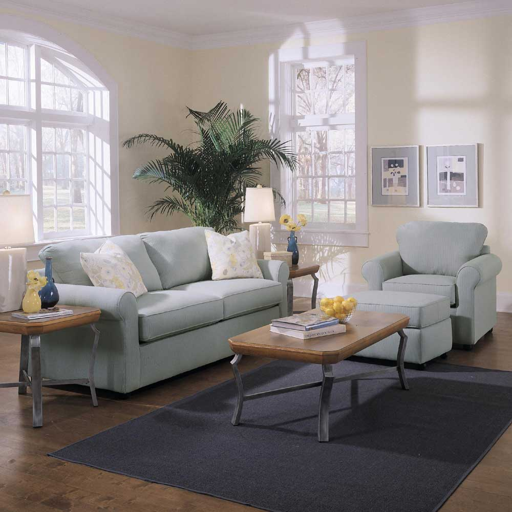 Brighton Stationary Living Room Group by Klaussner at Rooms for Less