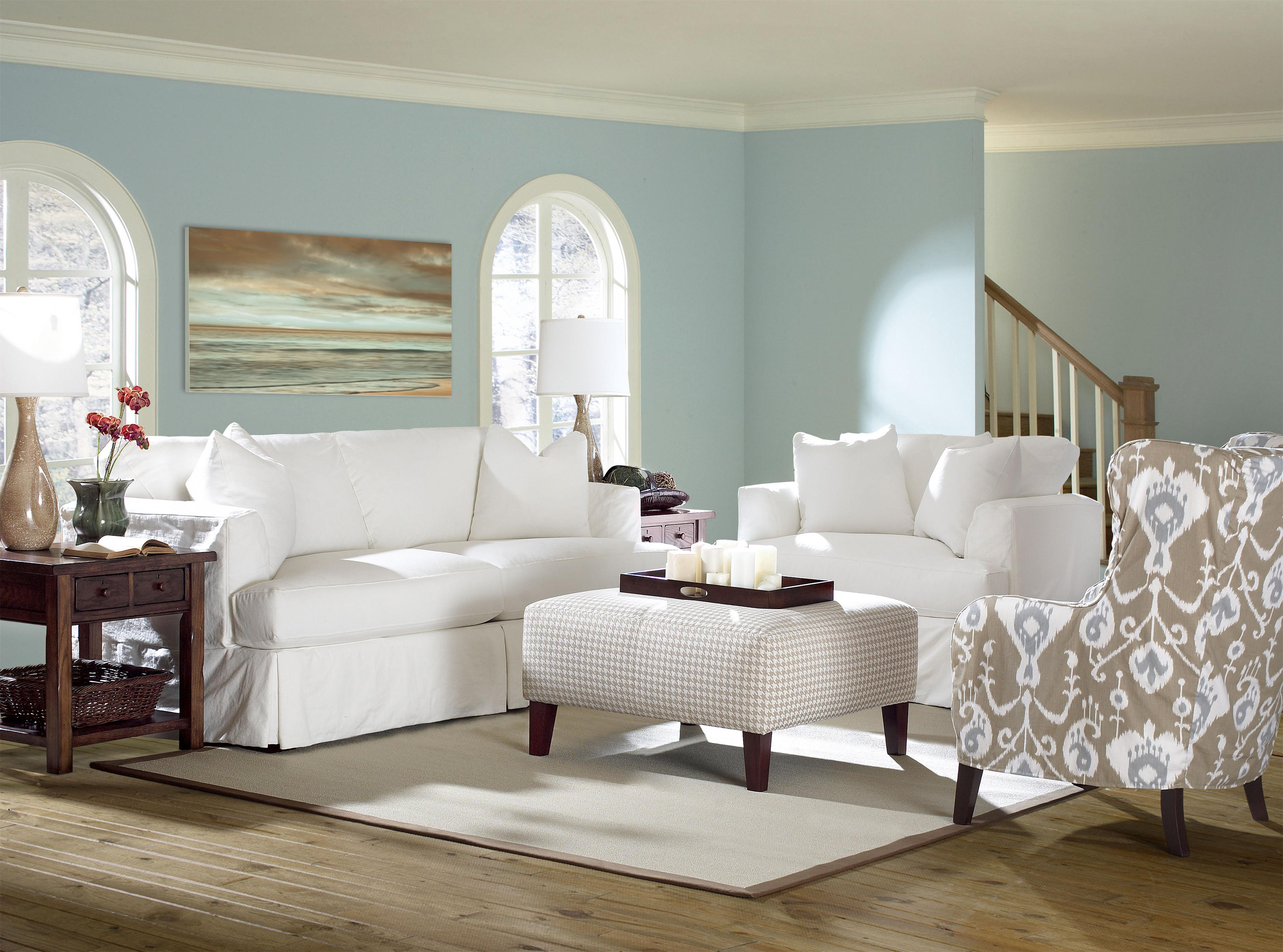 Bentley Stationary Living Room Group by Klaussner at Northeast Factory Direct