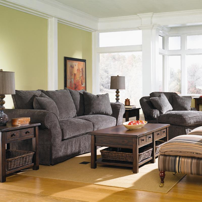 Charleston Stationary Living Room Group by Klaussner at Johnny Janosik