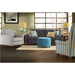 Klaussner Craven Stationary Living Room Group