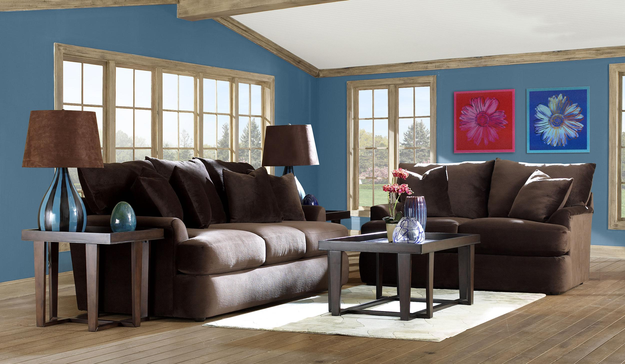 Findley Stationary Living Room Group by Klaussner at Johnny Janosik