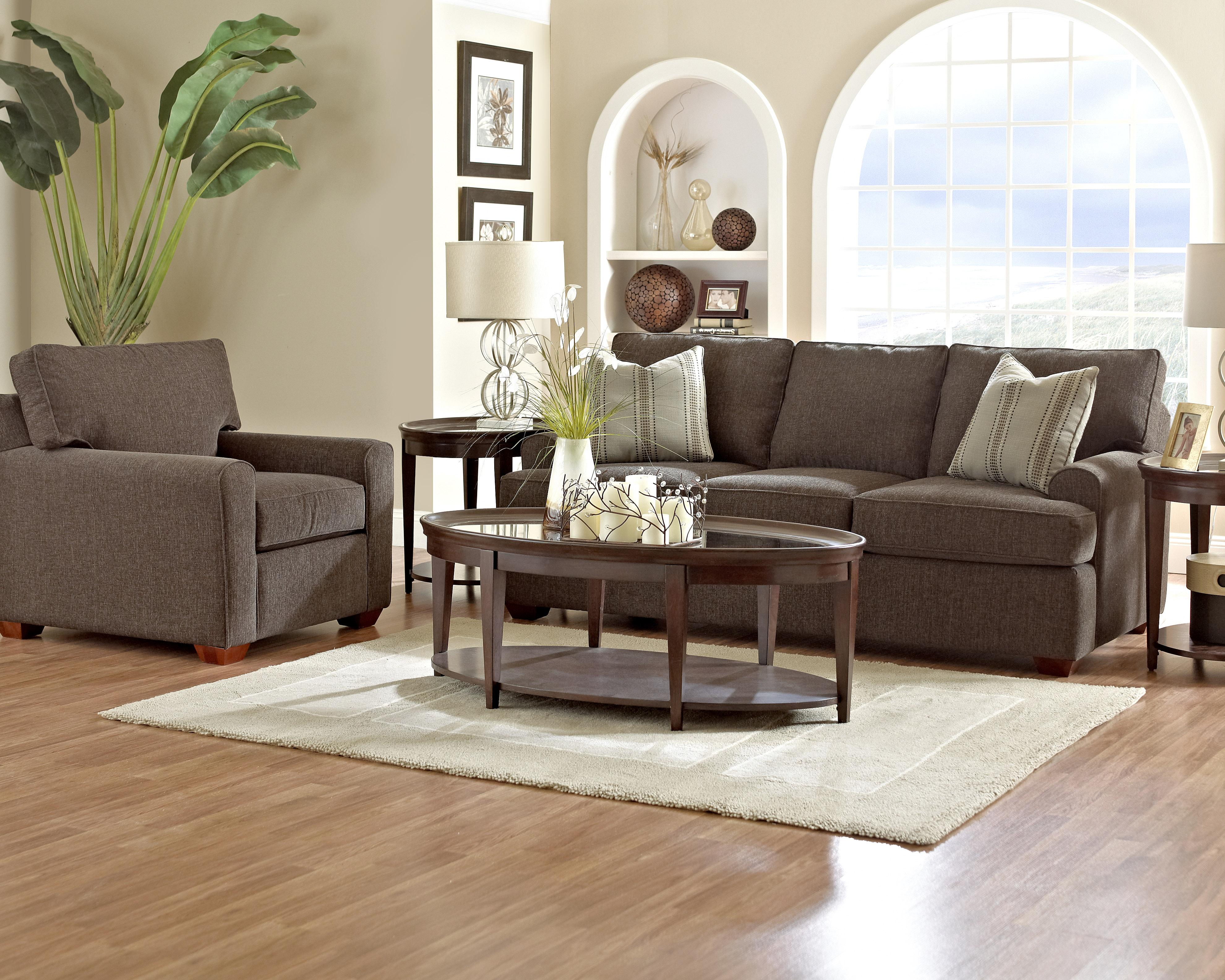 Hybrid Stationary Living Room Group by Klaussner at Johnny Janosik