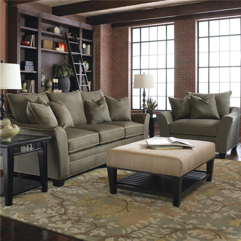 Posen Stationary Living Room Group by Klaussner at Johnny Janosik