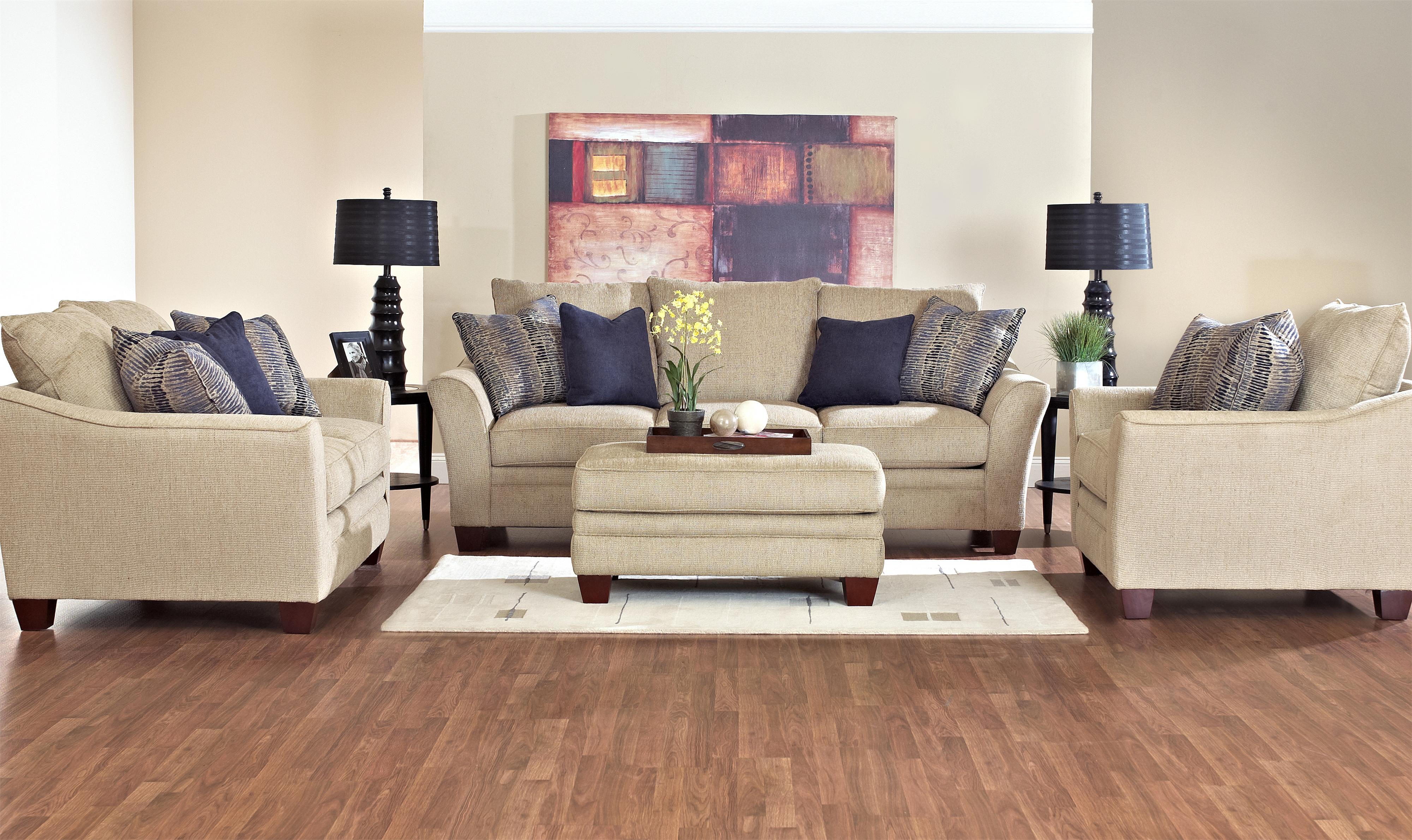 Posen Stationary Living Room Group by Klaussner at Northeast Factory Direct