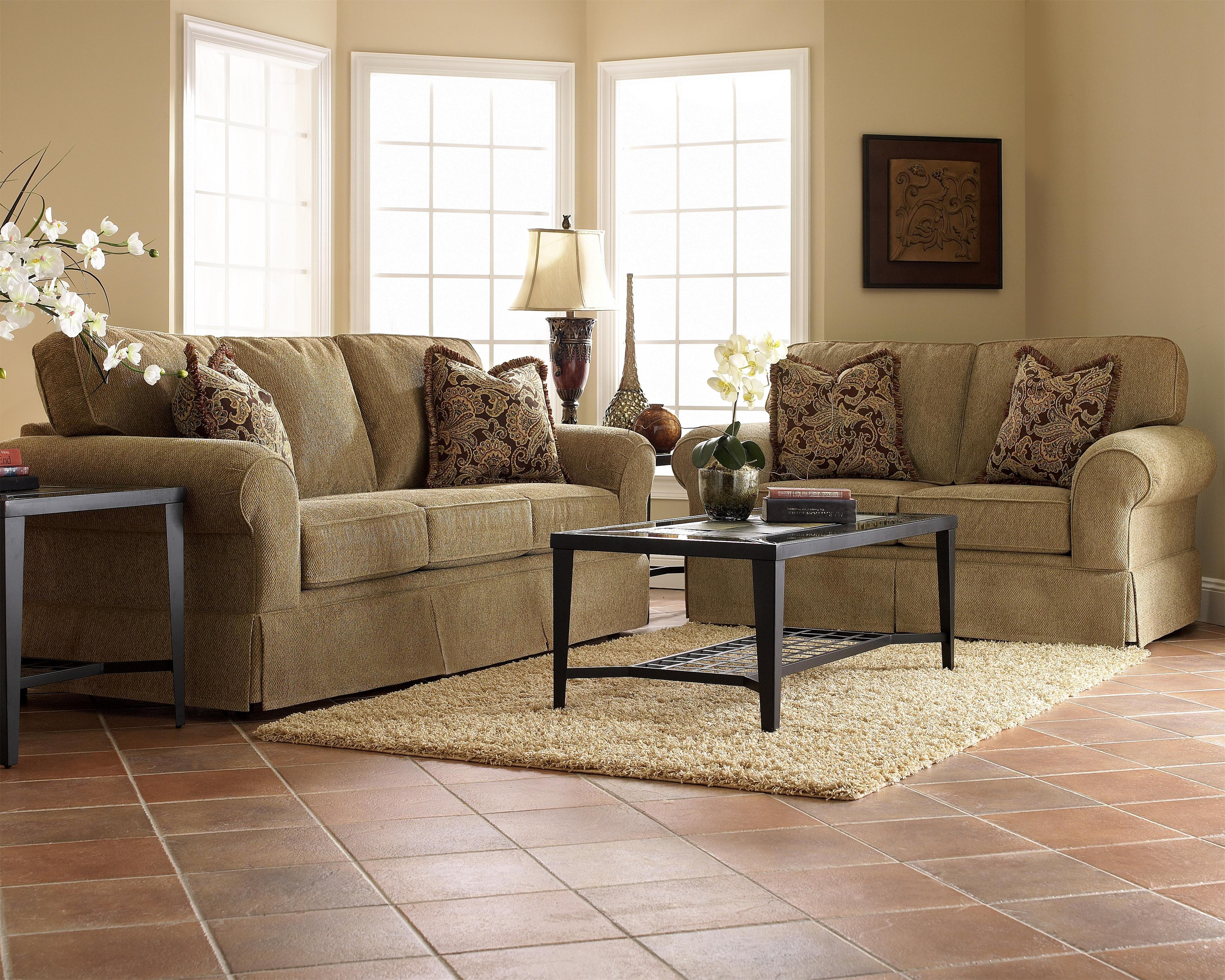 Woodwin Stationary Living Room Group by Klaussner at Northeast Factory Direct