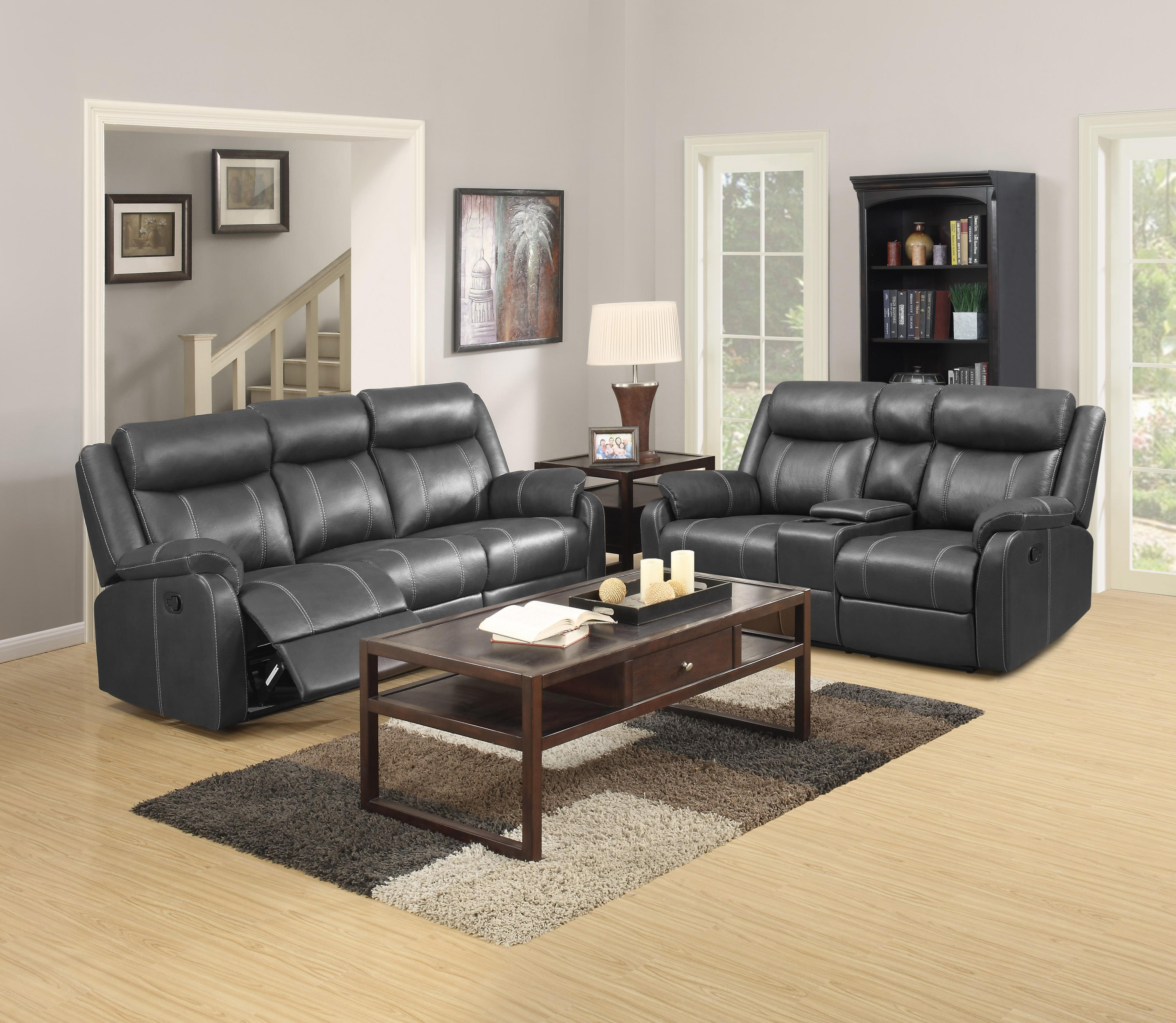 Domino-US Reclining Living Room Group by Klaussner International at Fine Home Furnishings