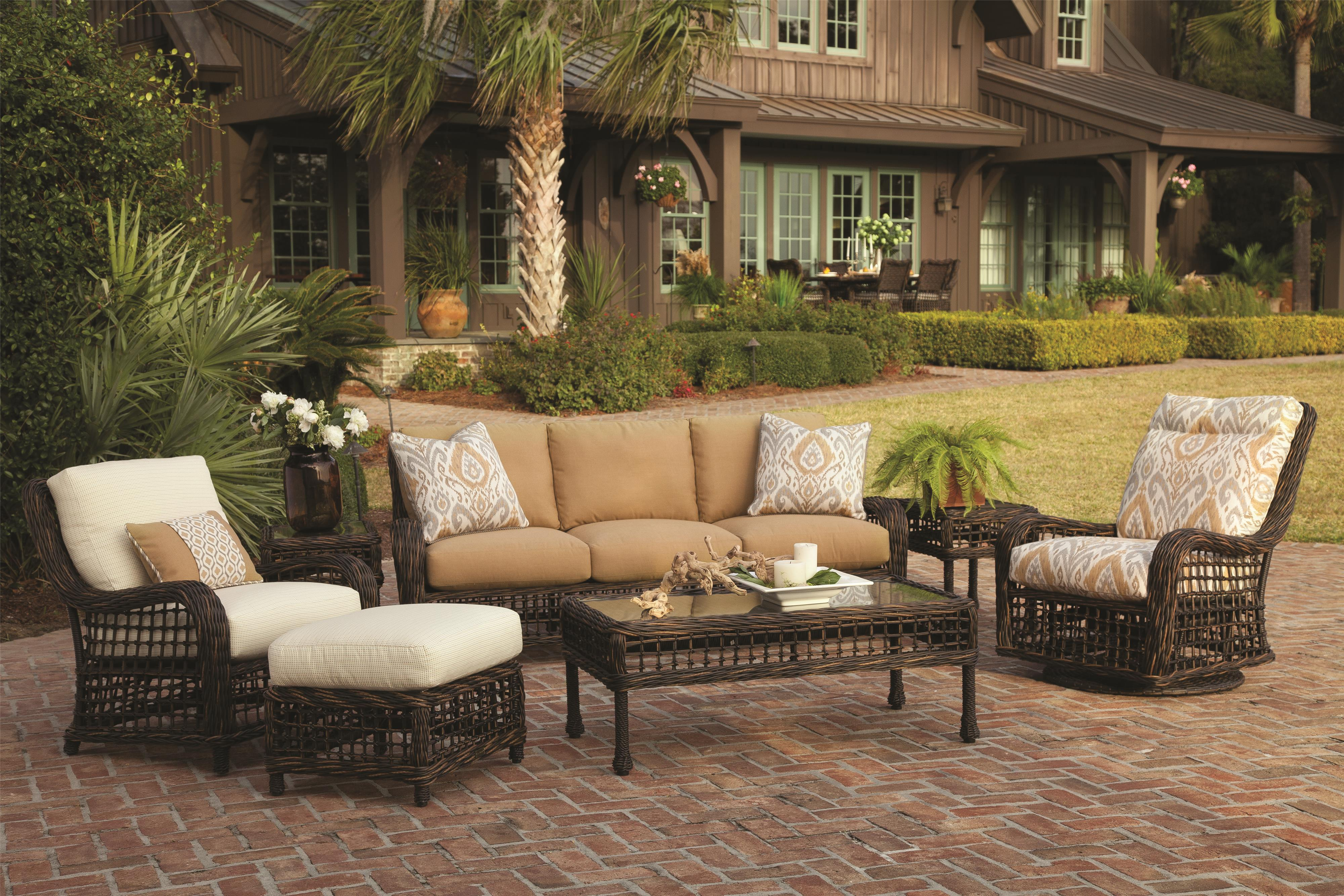 Moraya Bay Outdoor Conversation - Chat Set by Lane Venture at Jacksonville Furniture Mart
