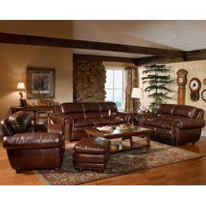 Leather Italia USA Aspen Stationary Living Room Group