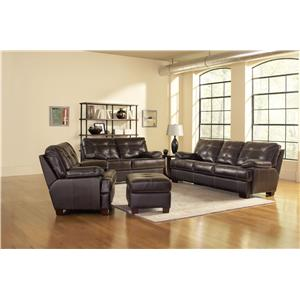 Leather Italia USA Dalton Stationary Living Room Group