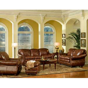 Leather Italia USA Hanover Stationary Living Room Group