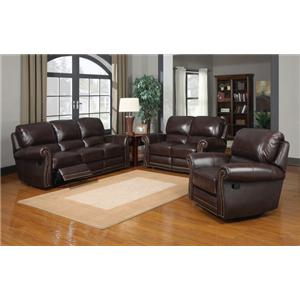 Leather Italia USA James Reclining Living Room Group