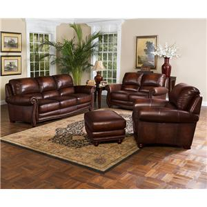 Leather Italia USA James Stationary Living Room Group