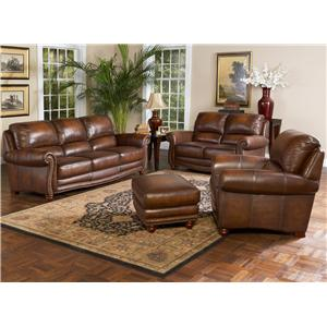 Leather Italia USA Parker Stationary Living Room Group
