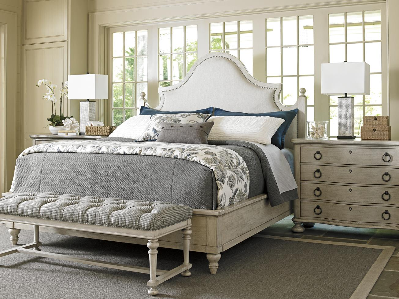 Oyster Bay King Bedroom Group by Lexington at Johnny Janosik