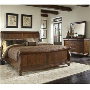 Liberty Furniture Rustic Traditions Queen Bedroom Group 1