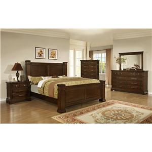 Lifestyle Timber King Bedroom Group
